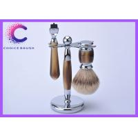 China Professional faux horn shaving brush and stand set on barthing platform on sale