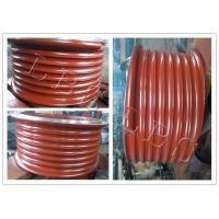 China Red Lebus Grooved Drum Without Flanges / Cable Winch Drum For Lifting wholesale
