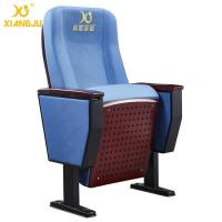 Buy cheap Floor Mounted Blue Auditorium Seating With Writing Pad / Steel Legs For Lecture Hall from wholesalers