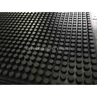 China Front And Grooved Back Cow Rubber Mats , Non Slip Rubber Matting With 3-5MPa wholesale