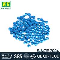 China Dresses Blue Dome Studs , Shiny Fixing Press Studs Environmentally Friendly for sale