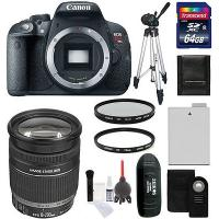 China Canon EOS Rebel T5i Digital SLR Camera Body + 18-200mm IS Zoom Lens + 64 GB Kit on sale