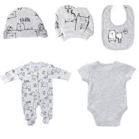 China Printed spring and Autumn Newborn Baby Clothes Set Easy Wash And Easy Dry wholesale