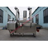China Continuous Belt Fryer snacks Continuous Conveyor Deep Fryer for fried snack food line on sale