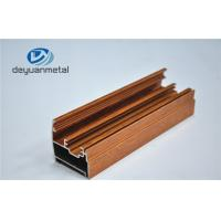 Quality Wooden Grain Aluminium Extrusion Profile Electrophoresis / Sand Blasting for sale