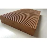 China WPC pellets with co-extrusion technology solid decking flooring for best supply on sale