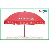 Buy cheap MarketAdvertisingRed Sun Umbrella Waterproof For Promotion 3X3m from wholesalers