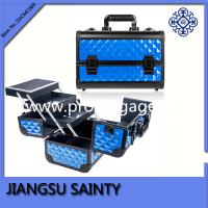 China wholesale blue diamond ABS makeup artist case
