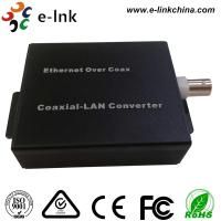 China 10/100Mbps IP Ethernet Over Coaxial Converter With Dc 12v Power Supply wholesale