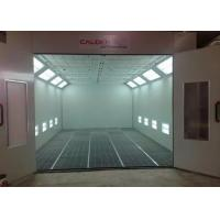 LED Lights Standard Paint Booth Coating, Commercial Spray Booth Diesel Burner Heating Used For Car Painting