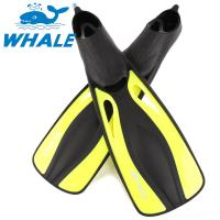 China Adult Yellow Professional Diving Fins , Short Swim Fins For Snorkeling wholesale