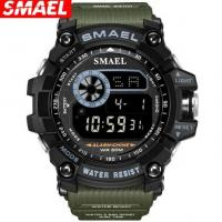 China Wholesale Smael New  Men Waterproof 50m Shock Resist Alarm Calendar PU Strap Outdoor Sport Watch 8010 wholesale