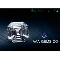 Professional Asscher Cut Synthetic Moissanite Colorless 7.5mm