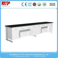 China Chemical Laboratory Wall Bench Solid Gray White Epoxy Resin Board wholesale