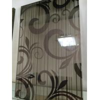 China Black Silk Tempered Pvb Laminated Art Glass Flat Panel 8mm For Home wholesale
