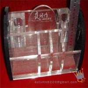 China clear acrylic makeup organizer wholesale