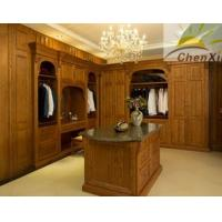 China Large Space Eco - Friendly Solid Wood Wardrobe Stable Jointing Frame wholesale