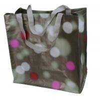 Buy cheap Waterpaint Dots PP Woven Reusable Carrier Bags Big Capacity , Nylon Tape Handle from wholesalers