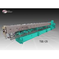 China Big Size Co Rotating Twin Screw Extruder For Plastic Pelleting Robust Frame Design wholesale