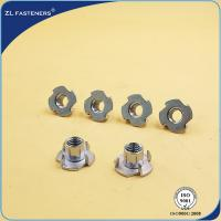 China Stainless Steel Tee Nuts , Furniture Insert Nuts Customizable Length wholesale