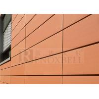 China Carrot Color 3mm Aluminium Wall Panels Apply To Construction Building wholesale