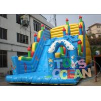 China Yellow And Blue Dolphin Ocean Park Inflatable Slides Rentals Outdoor Playground wholesale