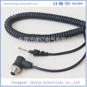 China 5 Pin Black Color Backup Camera Cable Rear , View Camera Cable Waterproof wholesale
