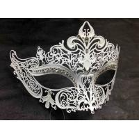 "China Venice Mask Metal Mask with Swarovski crystals 7""PF004D wholesale"