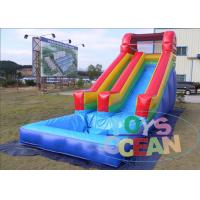 China Red Rentals Big Inflatable Water Slide Rentals For Kids Waterproof Durable wholesale