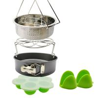 China Best Product Wholesale Pot Accessories Set 10 Pcs Silicone Steamer Basket, Egg Rack,Dish Plate Clip, Egg Bites Mold, Oven Mitts wholesale
