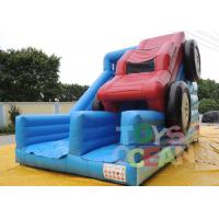China Commercial 0.55m PVC Inflatable Bule Slide With Red Car For Rental wholesale