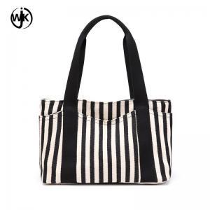 China Wholesale price color canvas bag new design lady tote handbag plenty in stock canvas zipper bag wholesale