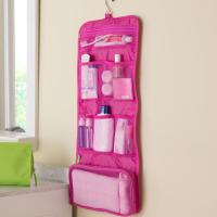 China Square Hanging Foldable Travel Cosmetic Bags For Women Make Up Organizer wholesale