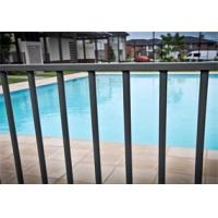 China Black Powder Coated Aluminum Flat Top Swimming Pool Fence 2400mm x1200mm on sale