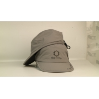 China Quick dry sports meterial soft grey plastic buckle rubber printing sports caps hats wholesale