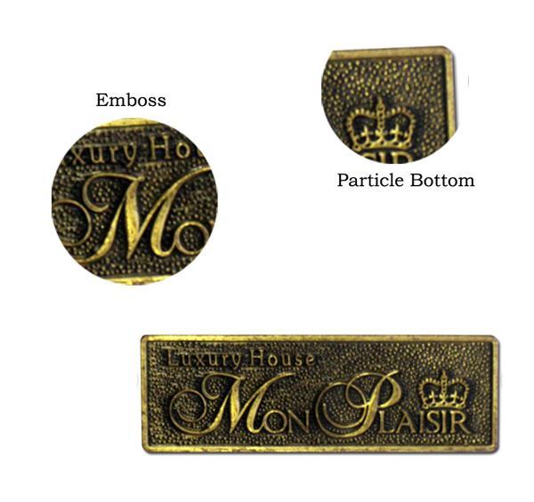 Furniture Brass Custom Metal Plates Stamping Metal Tags Engraved Copper Of Custommetalplates