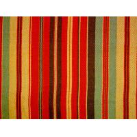 China Tear - Resistant Printed Cotton Canvas With Multi Coloured Stripe wholesale