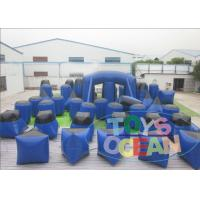China 50PCS Blue Inflatable Paintball Bunkers Durable For Outside Sport Games wholesale