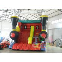 China Outside Bounce Large Inflatable Slides Red Tarpaulin For Musement Park wholesale