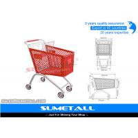 China Classic 125L Plastic Shopping Cart With Wheels , Grocery Store Shopping Carts wholesale