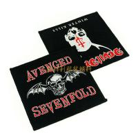 China Washable Custom Woven Patches Sew On Logo Badges For Clothes 5x7cm 6x6cm on sale