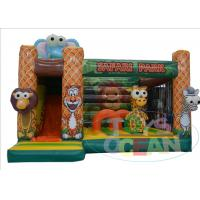 China 0.55 PVC Animal Jungle Inflatable Bouncer Combo Jumping For Kids Party Rental wholesale