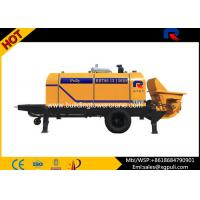 China Trailer Diesel Concrete Pump Adjust Horizontal Double Columns wholesale