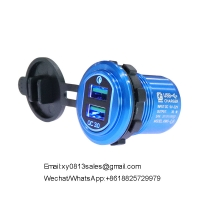 China 2020 New Trends portable mobile phone dual usb QC3.0 Car Charger Power Plug wholesale