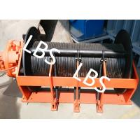 China Portable Small Hydraulic Cable Winch With Hydraulic Motor 10KN - 400KN wholesale