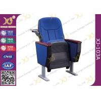 China Soild Wood Auditorium Theater Seating With Back Writing Pad / Aluminum Alloy Legs wholesale