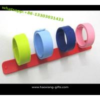 China Ruler Shape Custom Logo Print Blank Band Reflective Slap Bracelet wholesale