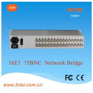 good quality with 75/120ohm16E1 network bridge Protocol Media Converter