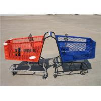 China 180L Pure Plastic Shopping Carts With Wheels , Custom Small Plastic Trolley wholesale