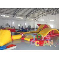 China Yellow Red Floating Inflatable Water Park / Aqua Park Customized Size Durable wholesale